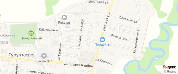 Байкальская улица на карте села Турунтаево с номерами домов