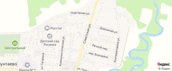Советская улица на карте села Турунтаево с номерами домов