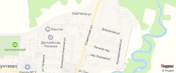 Советская улица на карте села Турунтаево Бурятии с номерами домов