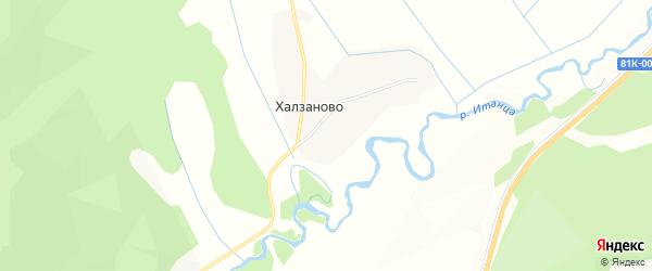 Карта села Халзаново в Бурятии с улицами и номерами домов