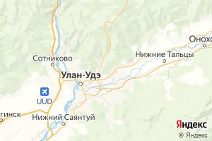 Карта г. Улан-Удэ Республика Бурятия