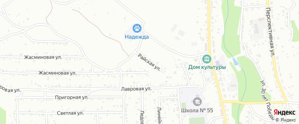 Райская улица на карте Улан-Удэ с номерами домов
