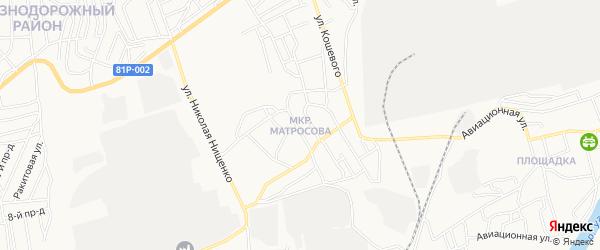 Карта поселка Матросова города Улан-Удэ в Бурятии с улицами и номерами домов