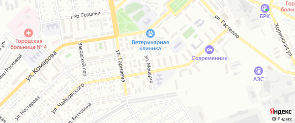 Улица Моцарта на карте Улан-Удэ с номерами домов