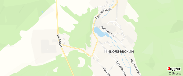 Карта Николаевского поселка в Бурятии с улицами и номерами домов