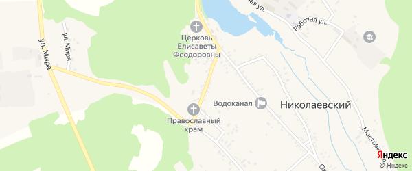 Школьная улица на карте Николаевского поселка с номерами домов