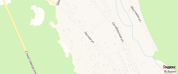 Лесная улица на карте Николаевского поселка Бурятии с номерами домов