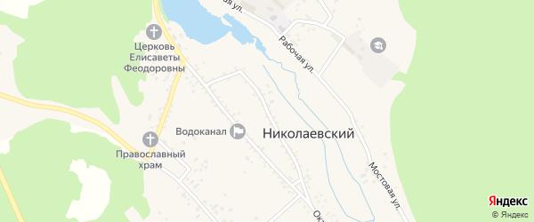 Запрудная улица на карте Николаевского поселка Бурятии с номерами домов
