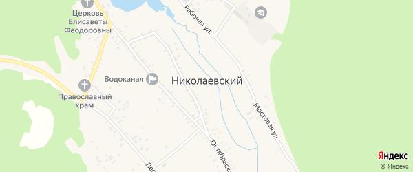 Счастливая улица на карте Николаевского поселка Бурятии с номерами домов