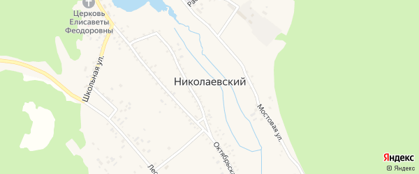 Карьерная улица на карте Николаевского поселка Бурятии с номерами домов