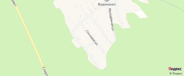 Сосновая улица на карте Николаевского поселка Бурятии с номерами домов