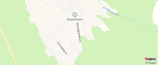 Молодёжная улица на карте Николаевского поселка Бурятии с номерами домов