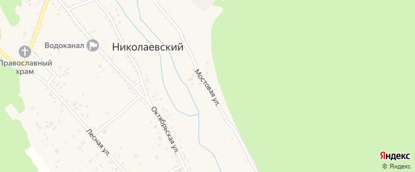 Мостовая улица на карте Николаевского поселка Бурятии с номерами домов