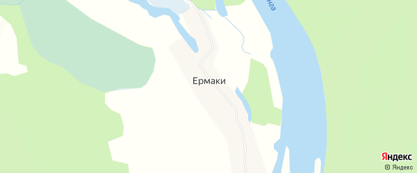 Карта села Ермаков в Иркутской области с улицами и номерами домов
