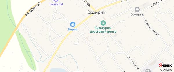 Переулок Ленина на карте села Эрхирик Бурятии с номерами домов