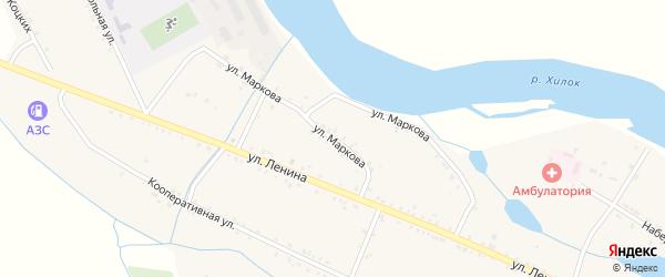 Улица Маркова на карте села Малого Куналея с номерами домов