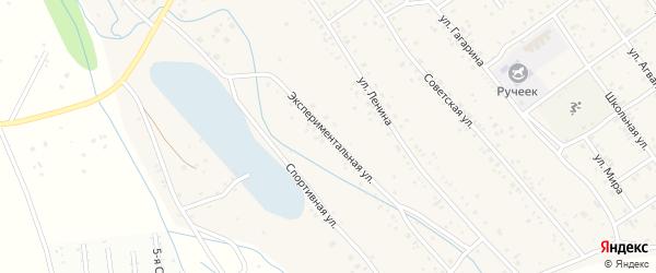 Экспериментальная улица на карте села Эрхирик Бурятии с номерами домов