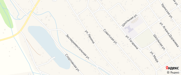 Улица Ленина на карте села Эрхирик Бурятии с номерами домов