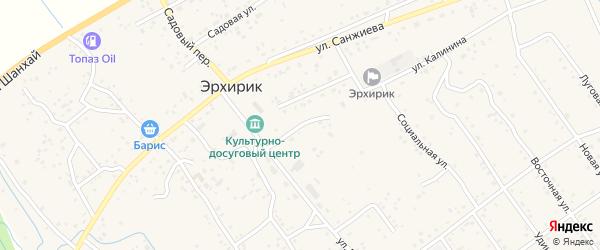 Переулок Калинина на карте села Эрхирик с номерами домов