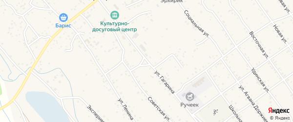 Улица Гагарина на карте села Эрхирик Бурятии с номерами домов