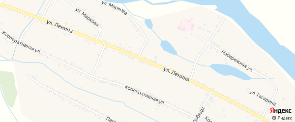 Улица Ленина на карте села Малого Куналея с номерами домов