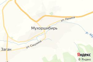 Карта с. Мухоршибирь Республика Бурятия