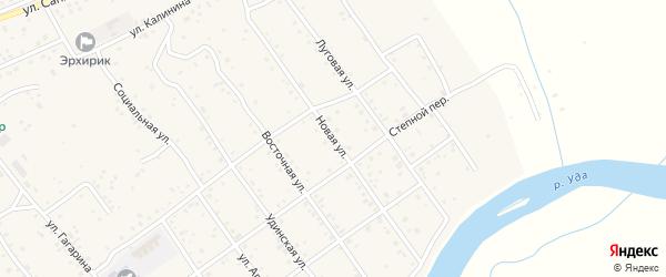 Новая улица на карте села Эрхирик Бурятии с номерами домов