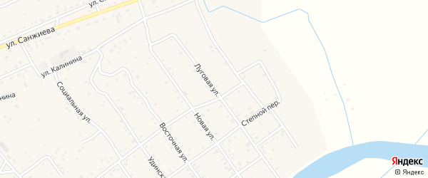 Луговая улица на карте села Эрхирик Бурятии с номерами домов