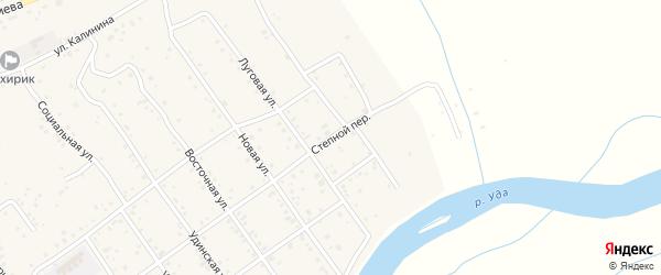 Степной переулок на карте села Эрхирик Бурятии с номерами домов