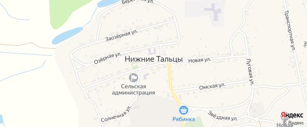Улица 2-я (СНТ Солнечный) на карте поселка Нижние Тальцы Бурятии с номерами домов