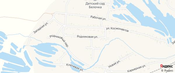 Родниковая улица на карте Онохого поселка Бурятии с номерами домов