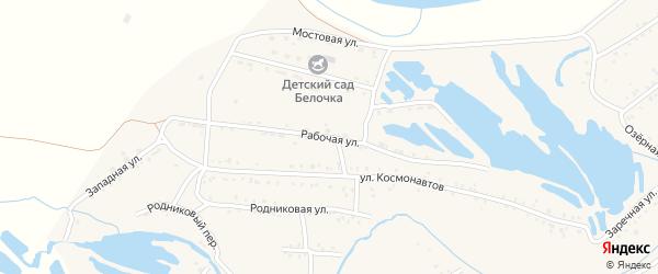 Рабочая улица на карте Онохого поселка Бурятии с номерами домов