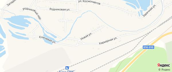 Новая улица на карте Онохого поселка Бурятии с номерами домов
