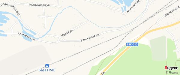 Карьерная улица на карте Онохого поселка Бурятии с номерами домов