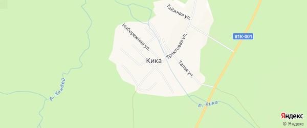 Карта поселка Кики в Бурятии с улицами и номерами домов