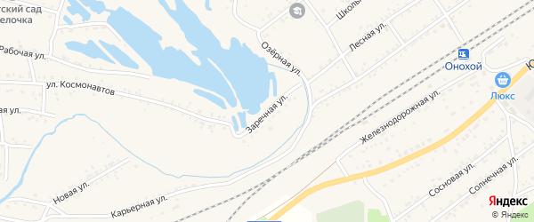 Заречная улица на карте Онохого поселка Бурятии с номерами домов