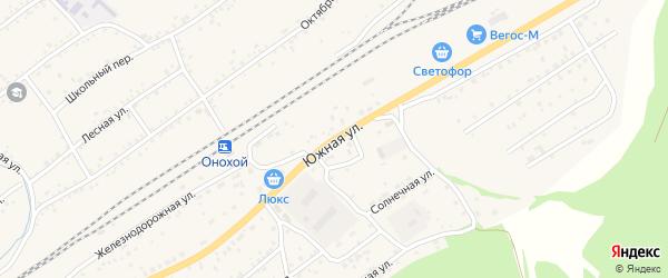Южная улица на карте Онохого поселка Бурятии с номерами домов