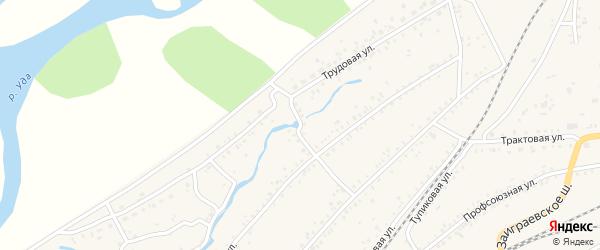 Переулок Стрелка на карте Онохого поселка Бурятии с номерами домов