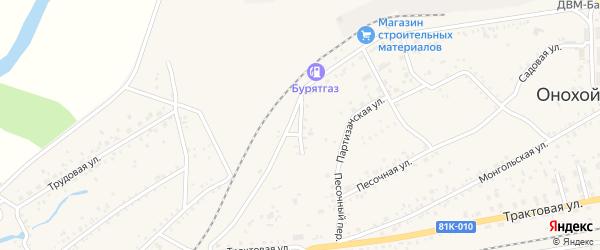 Театральная улица на карте Онохого поселка Бурятии с номерами домов