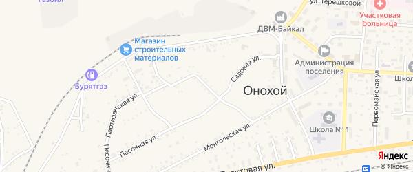 Парковая улица на карте Онохого поселка Бурятии с номерами домов