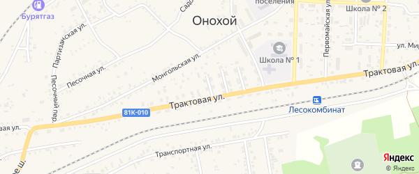 Улица Лазо на карте Онохого поселка Бурятии с номерами домов