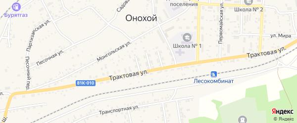 Фестивальная улица на карте Онохого поселка Бурятии с номерами домов
