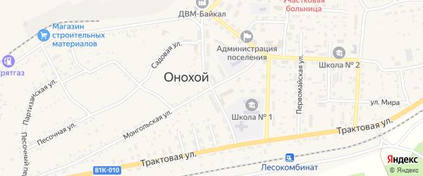 Юбилейная улица на карте Онохого поселка Бурятии с номерами домов
