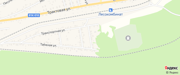 Заиграевская улица на карте Онохого поселка Бурятии с номерами домов
