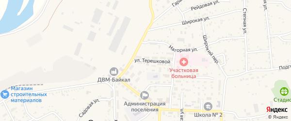 Улица Терешковой на карте Онохого поселка Бурятии с номерами домов
