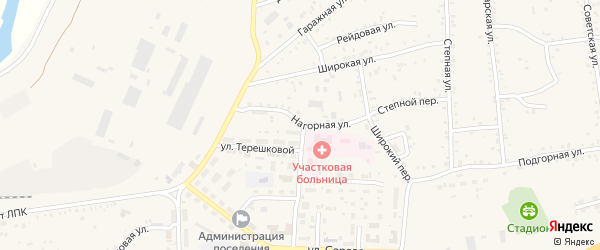 Нагорная улица на карте Онохого поселка Бурятии с номерами домов