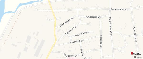 Гаражная улица на карте Онохого поселка Бурятии с номерами домов