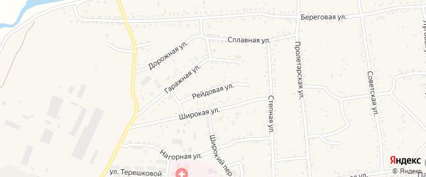Рейдовая улица на карте Онохого поселка Бурятии с номерами домов