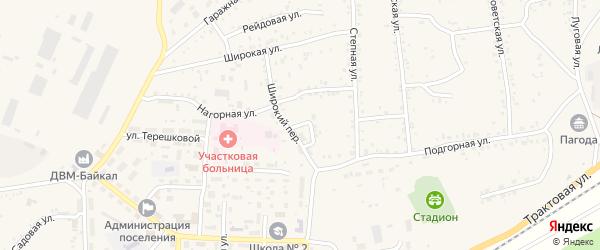 Подгорный переулок на карте Онохого поселка Бурятии с номерами домов