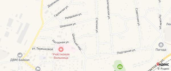 Степной переулок на карте Онохого поселка Бурятии с номерами домов